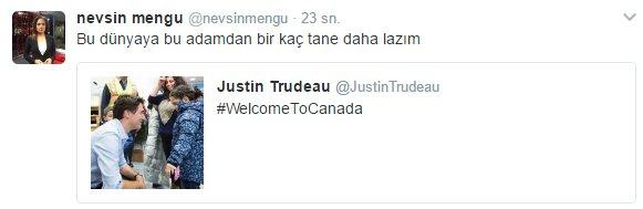 Nevşin Mengü'nün Trudeau hayranlığı
