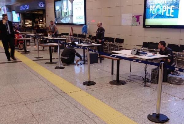 Atatürk Havalimanı'nda sandıklar kurulmaya başlandı
