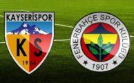 bein sports özet izle Kayserispor 4-1 Fenerbahçe maçı özeti golleri