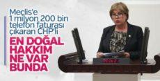 CHP'li vekilden 'haberleşme giderleri' açıklaması