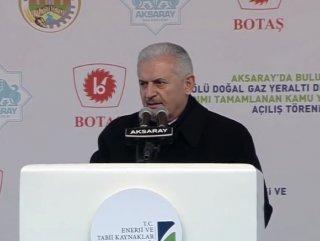 Başbakan'ın Doğalgaz Depolama Tesisi açılışı konuşması