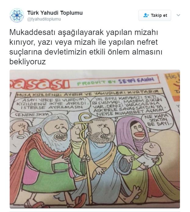 Türk Yahudi Toplumu'ndan Musa peygambere hakarete tepki