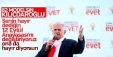 Başbakan Yıldırım Edirne'de Kılıçdaroğlu'na yüklendi