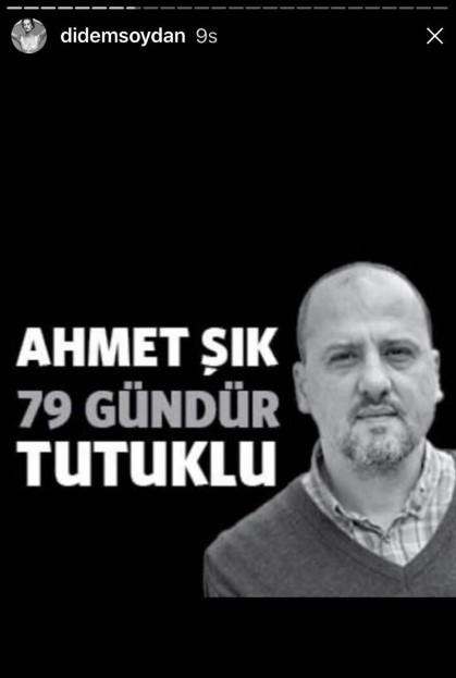 Didem Soydan'dan Ahmet Şık paylaşımı