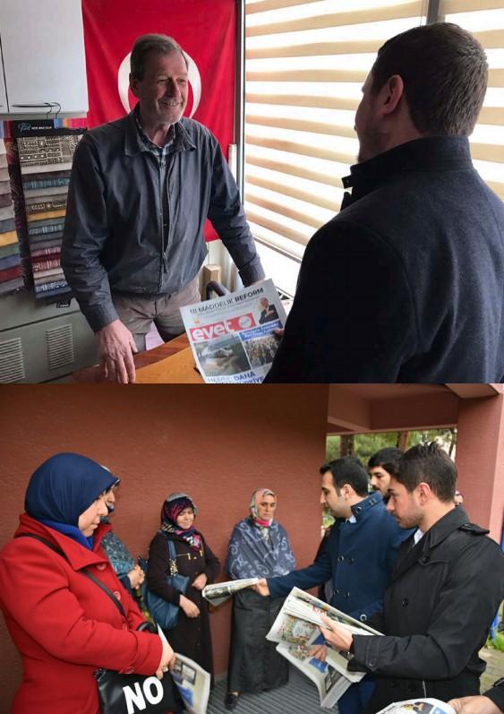 AK Parti Gençlik Kolları Evet gazetesi dağıttı